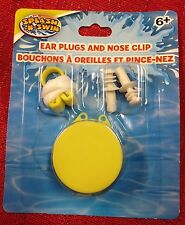 Splash-N-Swim Ear Plugs and Nose Clip Set W/Storage Case Ages 6+ Pool Beach Kids