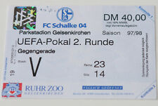 Ticket for collectors EC Schalke Gelsenkirchen Anderlecht 1997 Germany Belgium