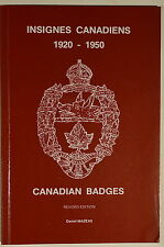 Canadian Badges Caps Collars Titles 1920-1950 Insignes Mazeas Reference Book