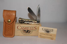 Camillus #716S Genuine Stag Handle Trapper Pattern Pocket Knife & Original Box