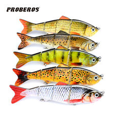 5pcs Jointed 4 Section Fishing Lure Baits Plastic Swimbaits Bass Tackle 12cm/17g