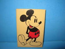 """Vintage Disney Mickey Mouse Hand Pocket Mirror 3"""" x 2"""" Great Condition!"""