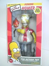 THE SIMPSONS  FISHING HOMER TIN ACTION TOY with BLINKY NRFB & WIND UP KEY