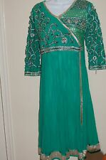 "Salwar kameez 39"" bust New Beautiful  Indian Pakistan Sari Party wear Anarkali"