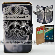 Wallet Phone Case Flip Cover ONLY for LG Nexus 5X - Vintage Steel Mesh Mic