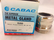 CABAC GU50 Metal Gland: Cable OD 26-35mm IP68