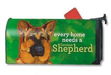Magnet Works Mailwraps German Shepherd Dog Original Magnetic Mailbox Wrap Cover