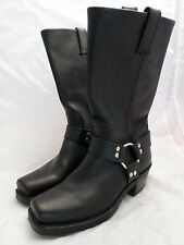 FRYE 77300 black leather square toe harness engineer motorcycle biker boots 7M