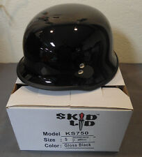 Skid Lid KS750 Gloss Black Small Half Motorcycle Helmet German WWII Style DOT