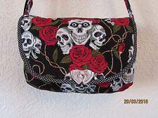 SKULL ROSES  RETRO MESSENGER TOTE BABY CHANGING BAG  LTD EDITION SCHOOL COLLEGE