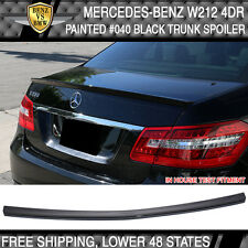 10-15 Benz E Class W212 4Dr Sedan AMG Style #040 Black Painted Trunk Spoiler