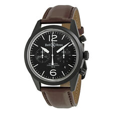 Bell and Ross Vintage Original Black Dial Chronograph Mens Watch BLRBRV126-BL-CB