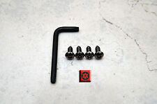 Anti-Theft *BLACK* Security Screws for AUDI FRONT License Plate Frame (4 pcs)