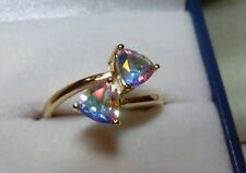 Mystic Moonlight Topaz Ring Set In 9 kt Yellow gold.