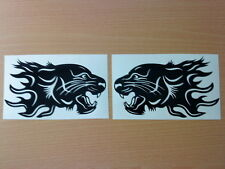 vinyl car stickers tribal tiger head flames graphics decals x2  wing mirror side