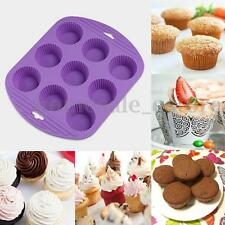 9 Cavity Silicone Muffin CupCake Cookie Sugarcraft Chocolate Mould Baking Tray