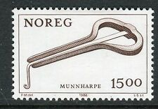 NORWAY 1982 JEW'S HARP/MUSICAL INSTRUMENTS/ART/HANDICRAFT/CULTURAL TRADITION MNH