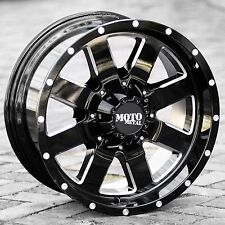 18x9 Black wheels Moto metal 962 for 1999-2016 FORD F250 F350 trucks 8x170 8 lug
