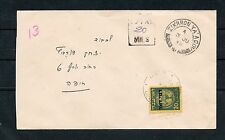 Israel Scott #J4 Postage Due Single on Cover Early June 1948!!