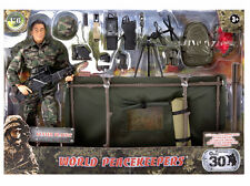 World Peacekeepers 1/6 Military Gunner Playset Soldier 12inch Figure Toy 90400A