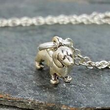 Tiny Dachshund Necklace - 925 Sterling Silver -  3D Dog Puppy Charm Jewelry NEW