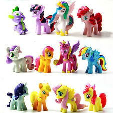 My Little Pony Action Figure Lot Spike Celestia Rainbow Dash Pony Set Of 12 New