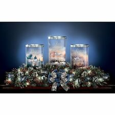 THOMAS KINKADE LIGHTED PEACE LOVE JOY CHRISTMAS HOLIDAY CENTERPIECE NEW
