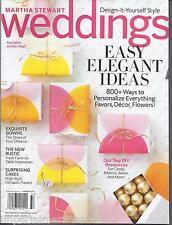 Martha Stewart Weddings magazine Easy elegant ideas Gowns Cakes DIY resources  .