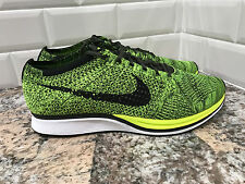2016 Nike Flyknit Racer OG SZ 11 Volt Black Sequoia Multicolor One 526628-731