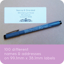 100 PERSONALISED WEDDING GUESTS LIST LABELS INVITATION ADDRESSES STICKY STICKERS