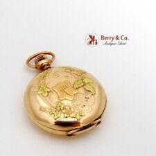 Amazing Antique Art Nouveau Gold Filled Pocket Watch 1880