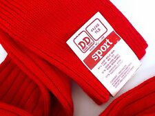 DORE DORE Red Wool Knee-High Boot Socks Men/Women Ski 44/45 11.5 FRANCE