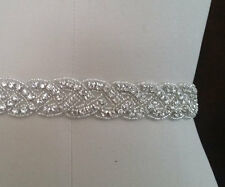 "Wedding Belt, Bridal Sash Belt - Crystal Sash Belt = 19"" long"