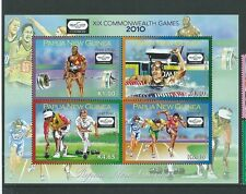 PAPUA NEW GUINEA 2010 COMONWEALTH GAMES SHEETLET OF 4  UNMOUNTED MINT,MNH