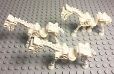 Lego Lot Of New White Skeleton Horse Mini Figure X3 Pieces