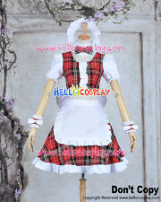 Lollipop Chainsaw Cosplay Cheerleader Juliet Starling Costume Maid Dress H008