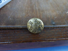 Original: Military Brass Button with royal crest
