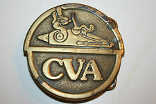 WOW Vintage CVA Connecticut Valley Arms Muzzleloader Firearms Belt Buckle RARE
