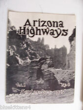 1925 SEPTEMBER ARIZONA HIGHWAYS MAGAZINE