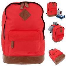 Rucksack BESTWAY Rocky MOUNTAIN Vintage Schulrucksack Daypack Bag ROT 0200 +f