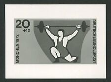 BUND FOTO-ESSAY OLYMPIA 1972 GEWICHTHEBEN OLYMPICS PHOTO-ESSAY PROOF e213