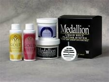 Medallion Liquid Gold Plating Kit Cleaning Polishing Finish Solution Easy Buff