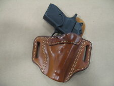 Makarov 9x18 OWB Leather 2 Slot Molded Pancake Belt Holster CCW TAN RH