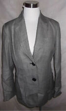 New Talbots Jacket Blazer Size 6 Gray Grace Fit Classic Wool Blend