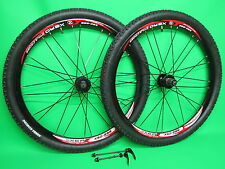 "26"" MTB Mountain Bike Bicycle Wheel set 8/9/10 Speed Disc Brake + Kenda Tyres"