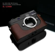 Gariz Black Label Leather Half Case BL-LCM9BR for Leica M8 M9 M Mono Black