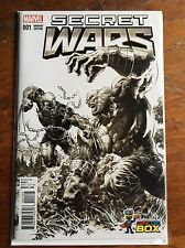 Secret Wars 1 Comic Con Box EXTREMELY RARE Sketch Variant Homage Hulk 181 2015