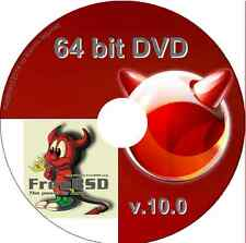FreeBSD Unix Operating System, 64 bit DVD Free BSD alternative O/S version 10.1
