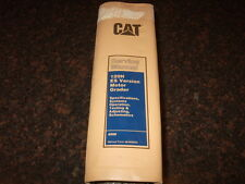 CAT CATERPILLAR 120H ES VERSION MOTOR GRADER SHOP REPAIR SERVICE MANUAL 6NM1-UP