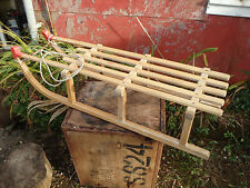VINTAGE DAVOS 'METRO' WOODEN SLED 100cm long VERY STRONG. TOBOGGEN, SLED, SLEIGH